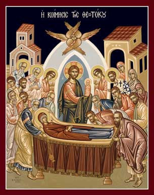 Icon of the Feast of the Dormition 2